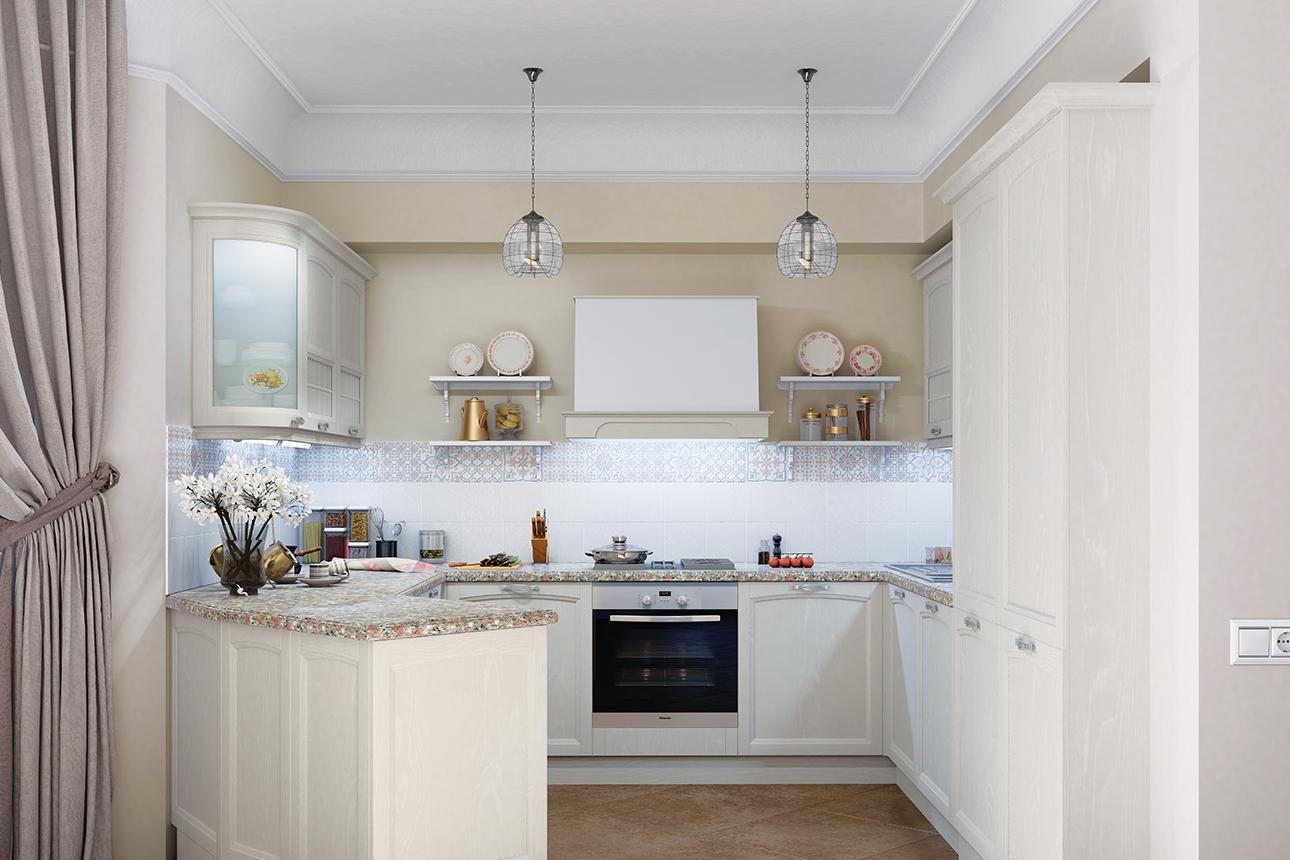 дизайн кухни в бежевых тонах фото изображение штрихкодом содержит
